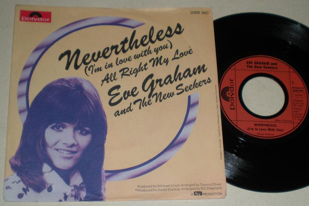Eve Graham & New Seekers 45/PS Nevertheless 1973 VG++