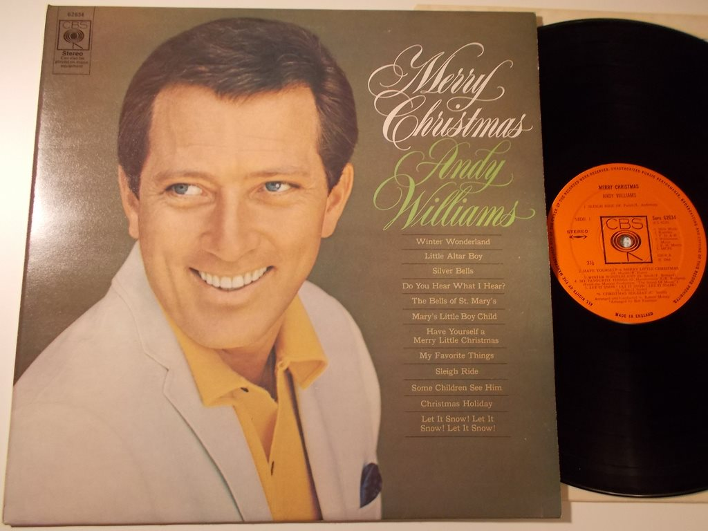 ANDY WILLIAMS - Merry Christmas (1966), CBS Stereo UK senare med orange etikett