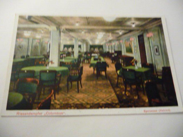 passargerar båt Columbus matsalen på Tradera.com - Vykort och bilder -