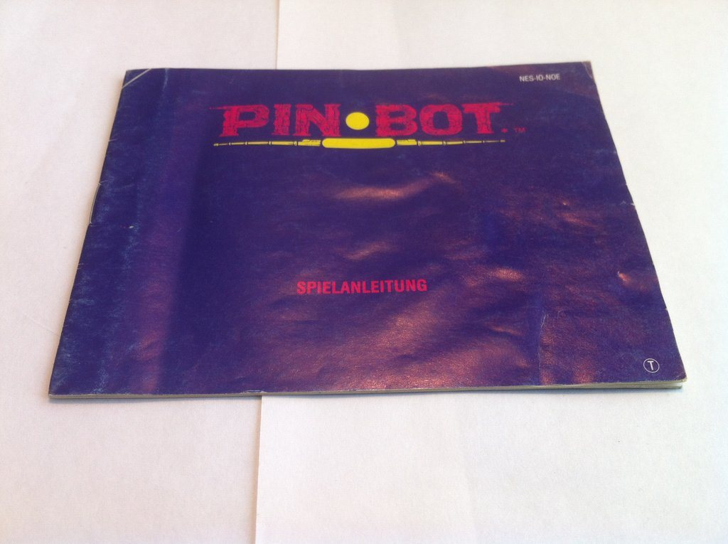 NES: Manualer: PinBot/Pin Bot (End. manual -Tysk)
