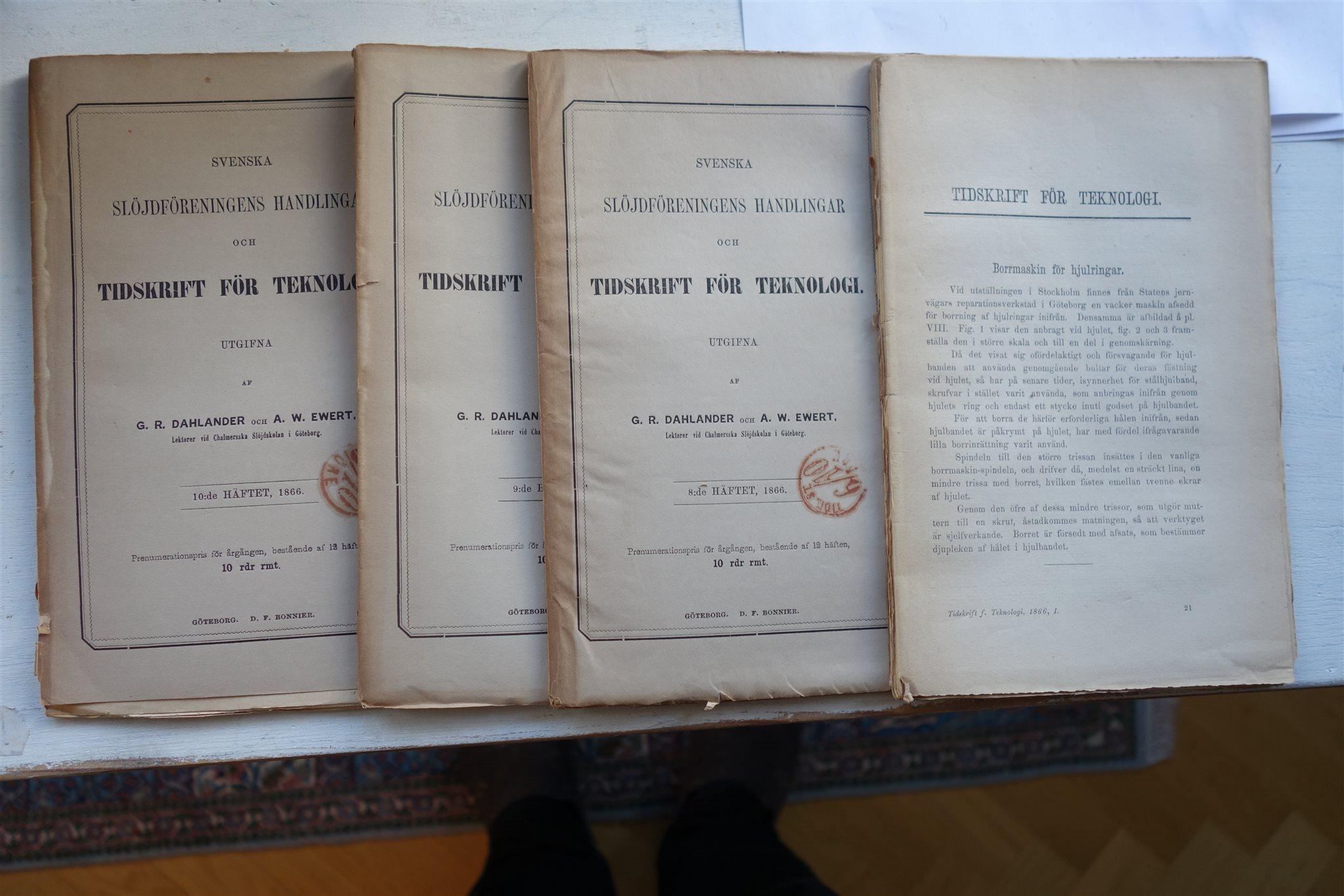 Svenska slöjdföreningens handlingar och Tidskrift Tidskrift Tidskrift för teknologi 1866 03b6c5