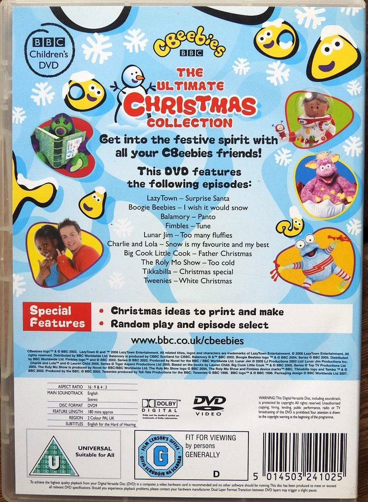Ultimate Christmas Collection: CBeebies The Ultimate Christmas Collection DVD (English