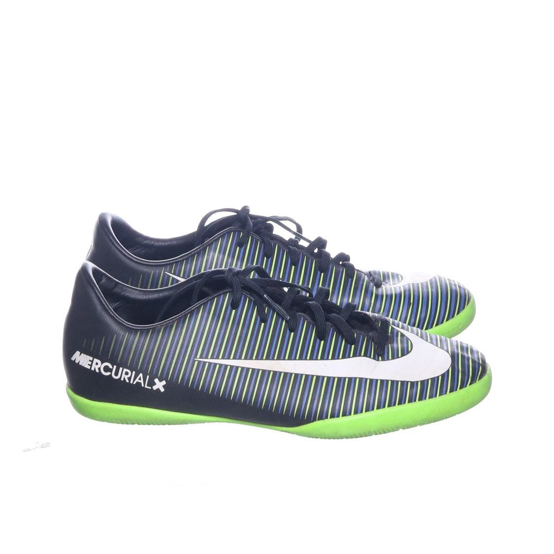 size 40 247aa 20982 Nike, Fotbollsskor, Strl  36.5, Mercurial X, Svart Grön Vit