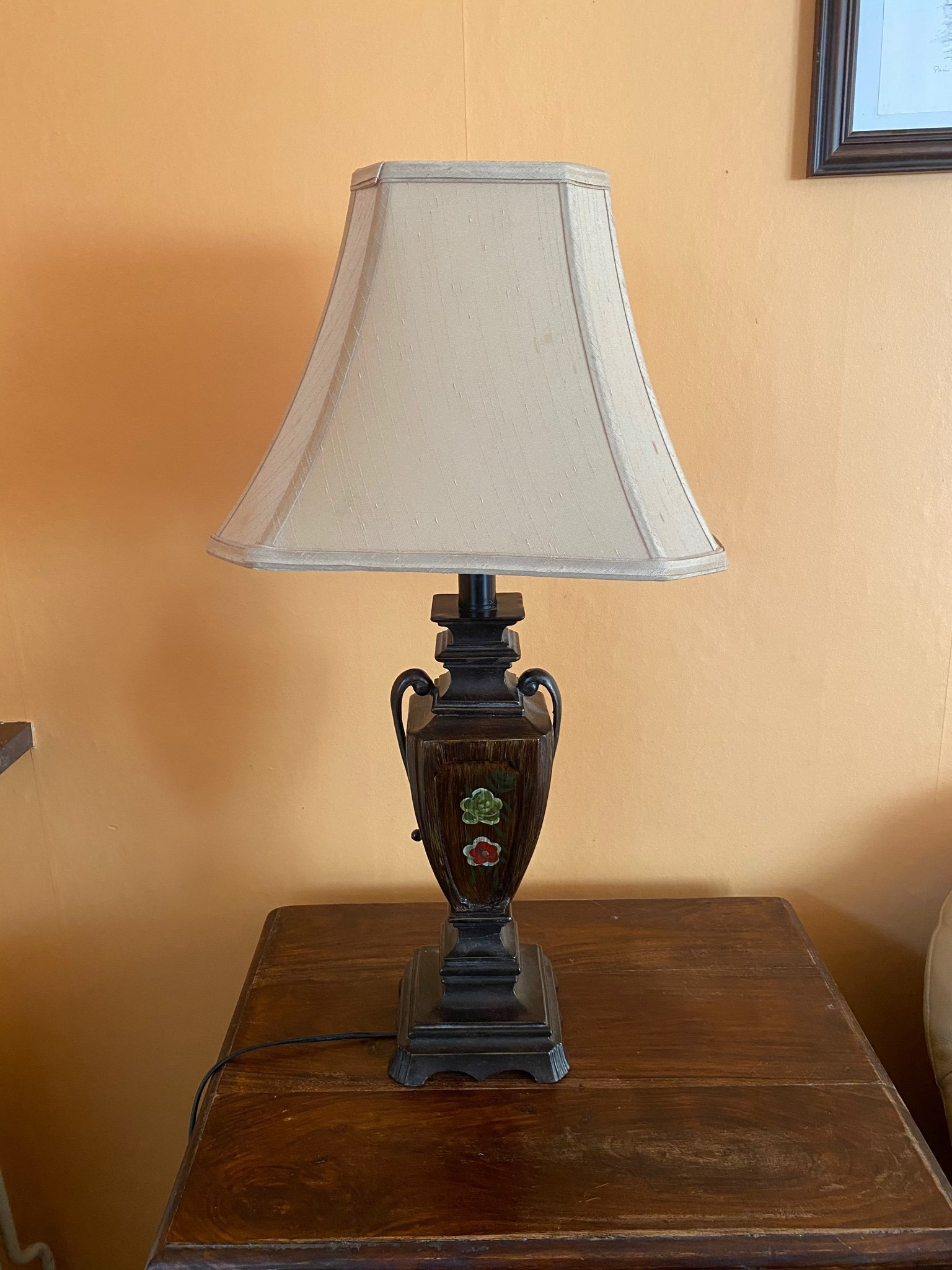ASIATISK STIL LAMPA BRUN BEIGE