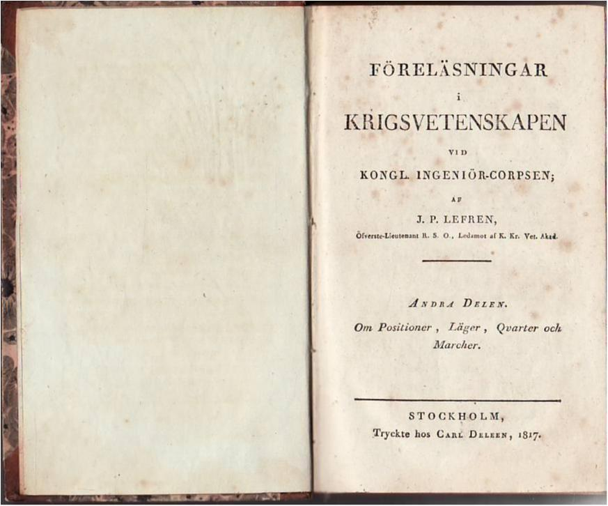 Föreläsningar i krigsvetenskapen, Positioner, Läger, Läger, Läger, Qvarter och Marscher, 1817 80cc36