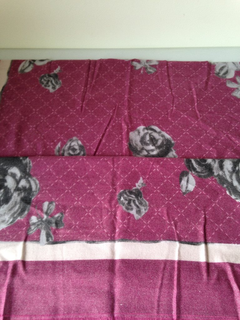 Sjal Cashmere ros rosa