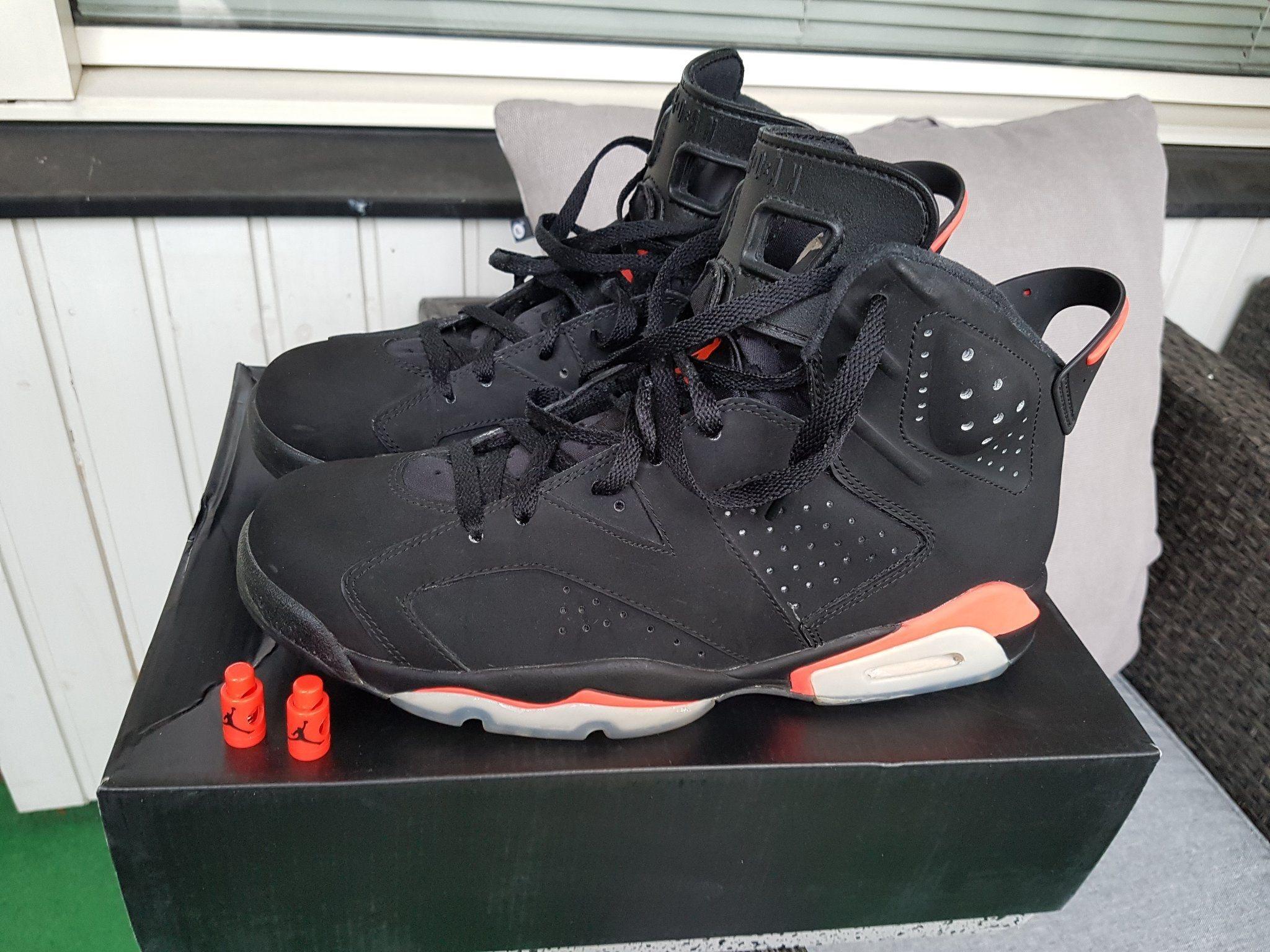 best authentic 925a6 5c0b1 Nike Air Jordan 6 Retro Black Infrared - US10 EU44