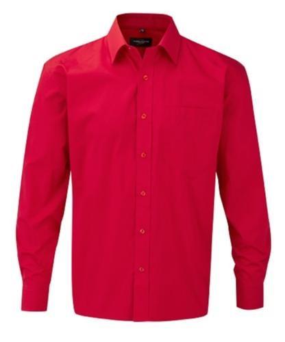 Skjorta - bomull, bomull, bomull, Z936, röd, storlek 3XL ba7ba6