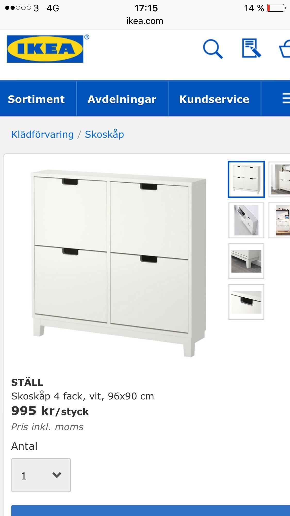 Skoskåp STäLL IKEA på Tradera com Hallmöbler Möbler Hem& Hushåll