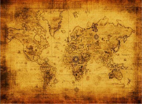 tavla världskarta canvas