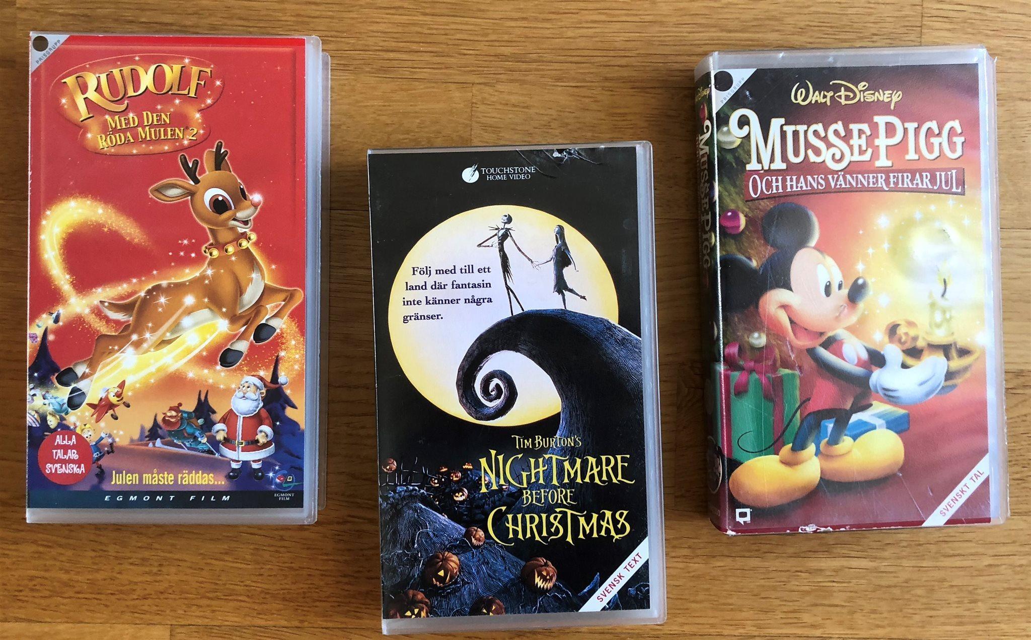 Nightmare before Christmas VHS filmer 3 st Jult.. (318043709) ᐈ Köp ...
