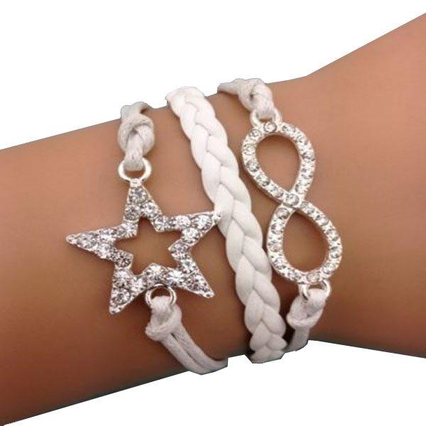 Vitt Armband PU läder - Infinity Stjärna .. (281668228) ᐈ Sustra på ... ae8f7bc5b688e