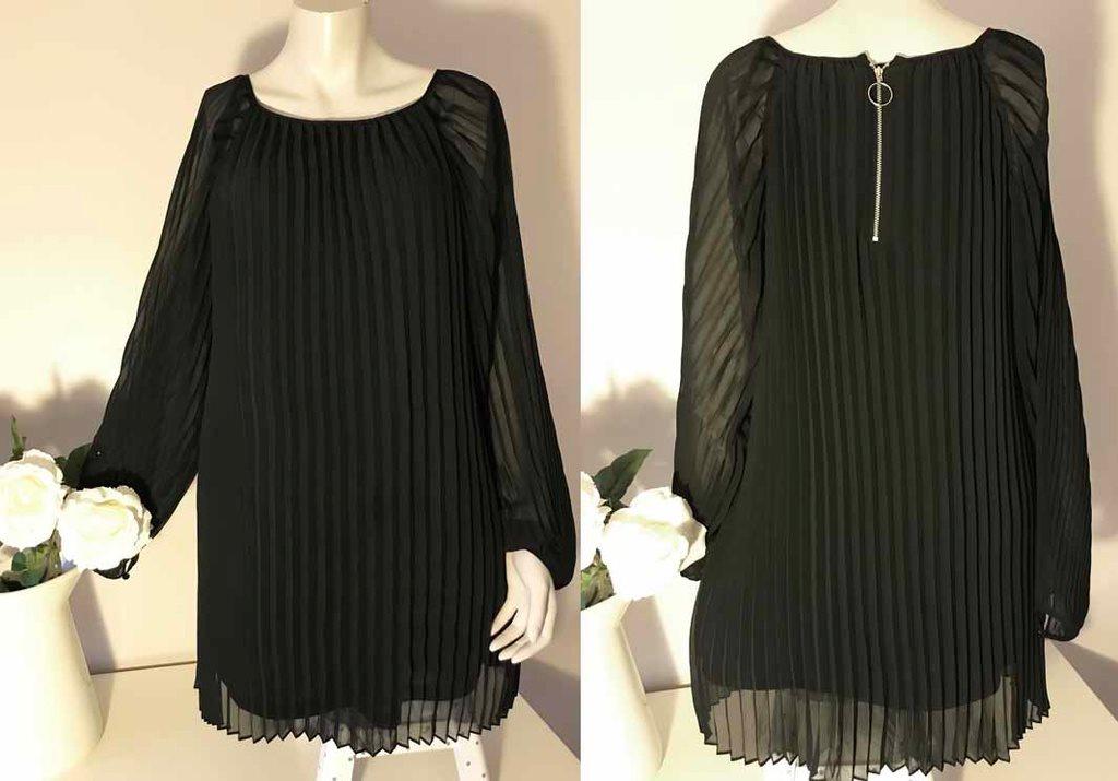 Zoul Gatsby charleston klänning svart plisserad retro goth 30-tal veckad  stil 36 520f804337543