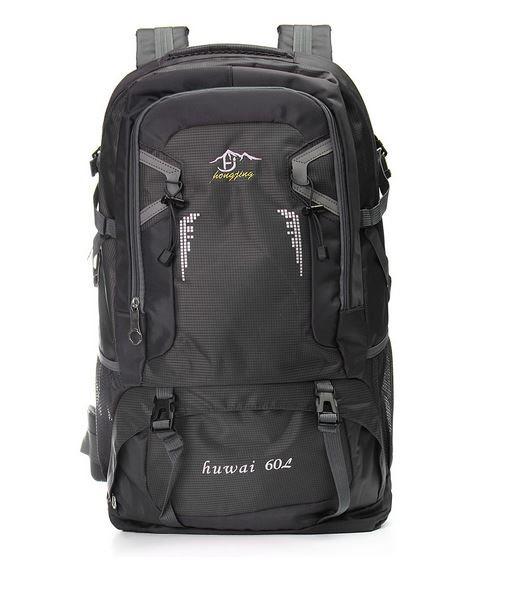 60L vattentät ryggsäck vandring camping trekking hiking climbing väska svart 67be253a9490e