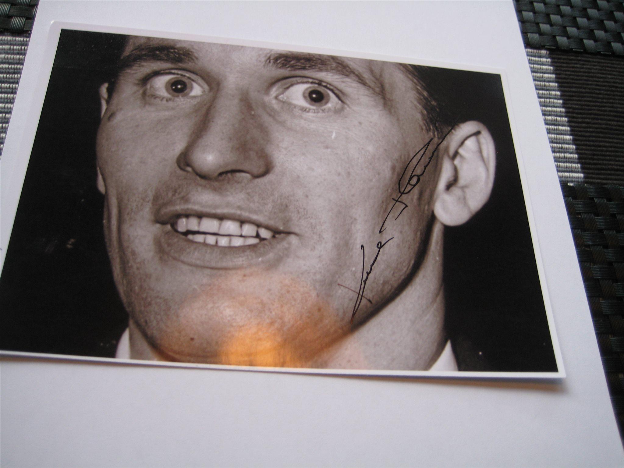 Kurt Hamrin fotboll Signerat foto on Tradera