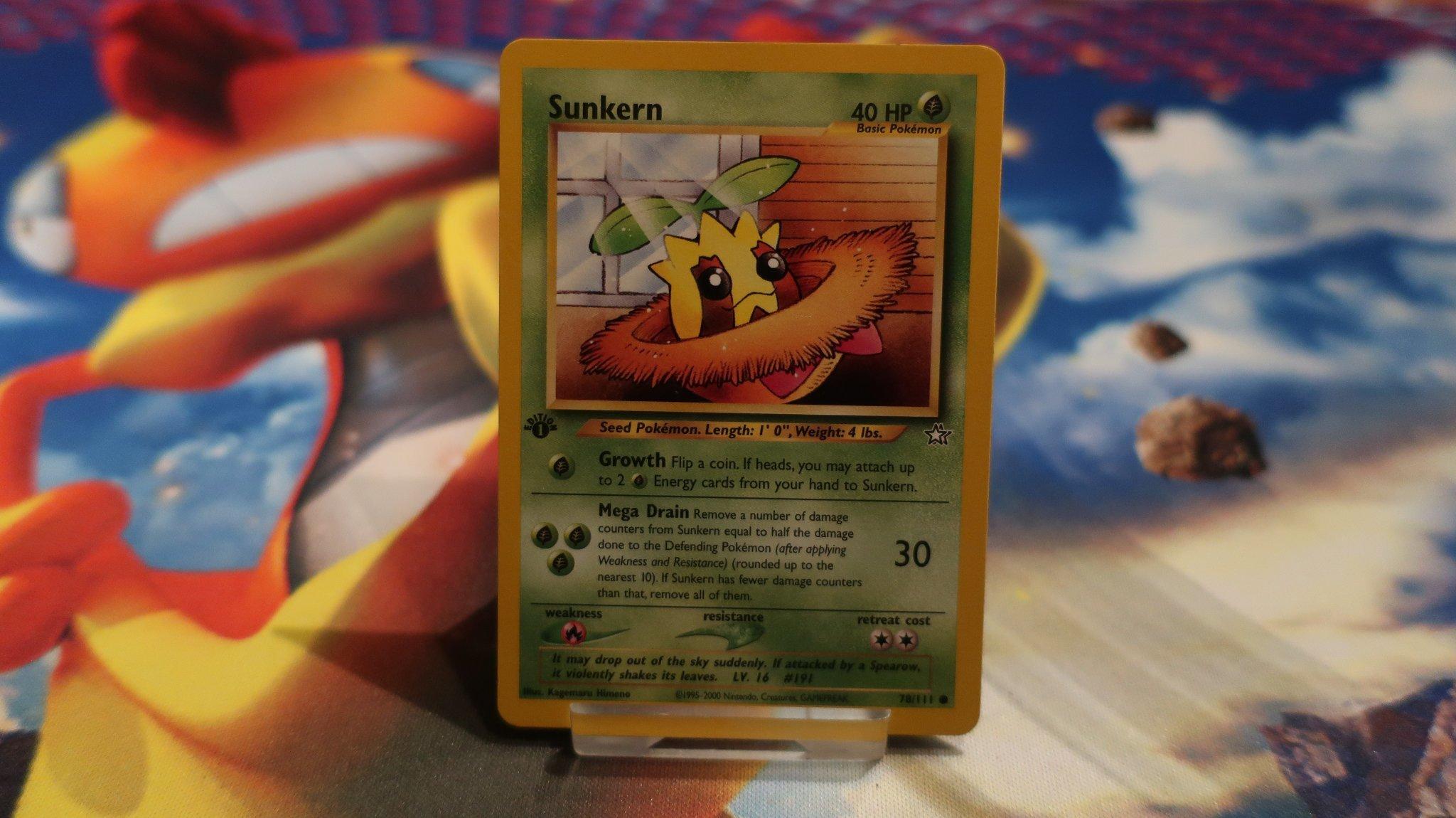 Sunkern 78//111 Neo Genesis Pokemon Card