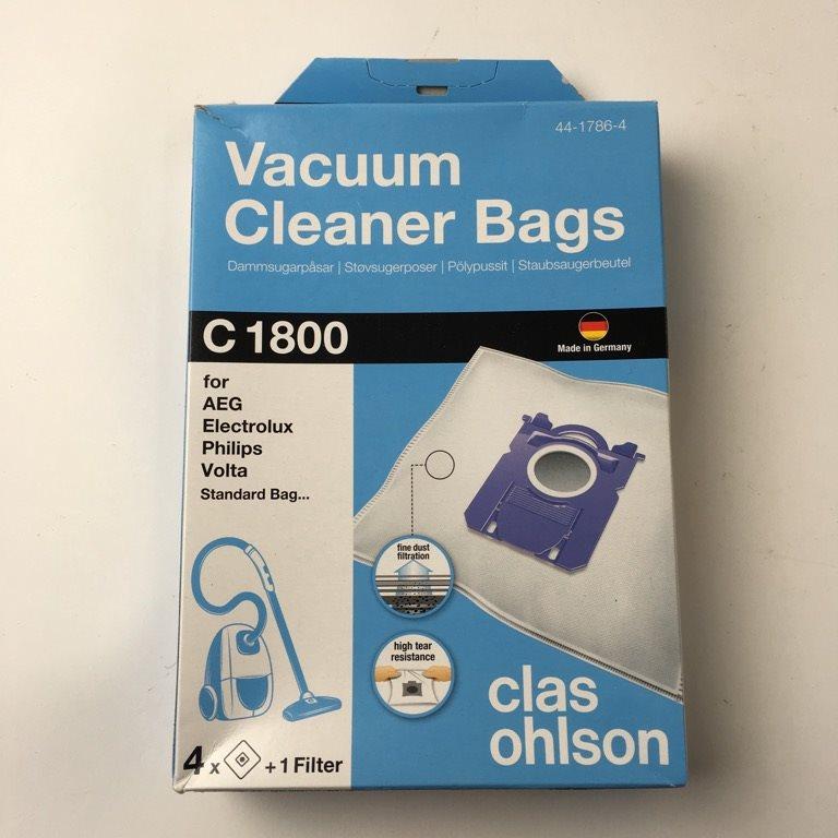 Dammsugarpåsar C1800, 4 pack | Clas Ohlson