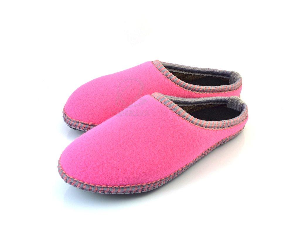 16766aacf56 Nya mysiga filt rosa dam tofflor flip-flop skor varm toffel inneskor stl 41  ...