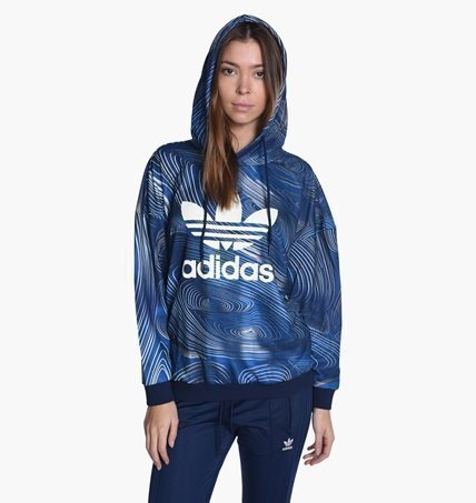 Adidas Originals. Blue Geology Oversized Hoodie.. (392598505