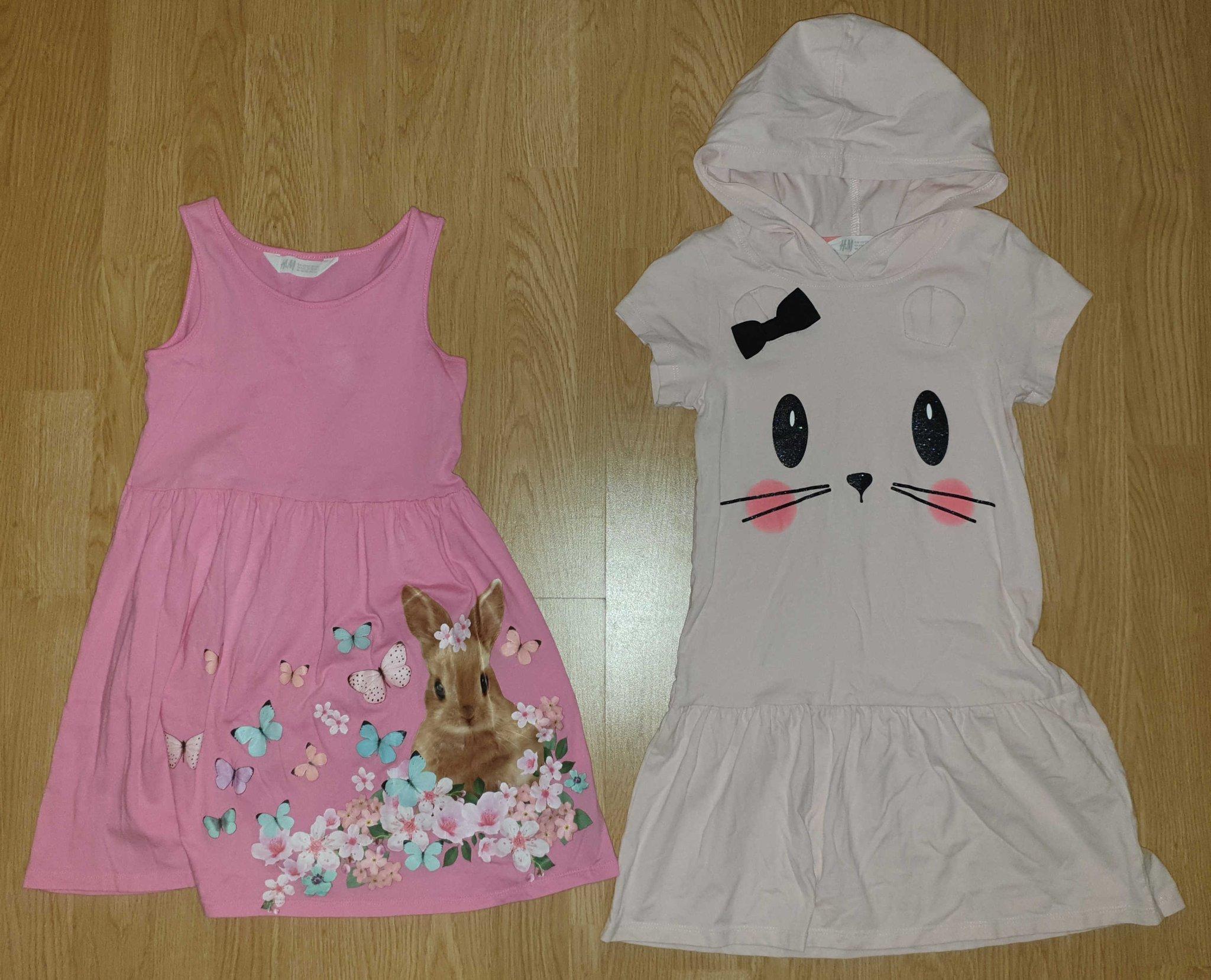 fdcd2325b417 2st fina klänningar från h&m i 122/128 (347788887) ᐈ Köp på Tradera