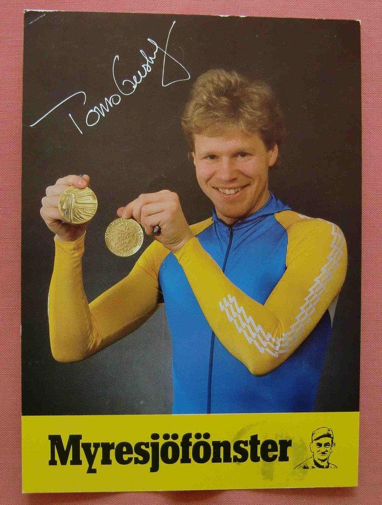 Sport OS olympiad guldmedaljören Tomas Gustafson Eskilstuna på