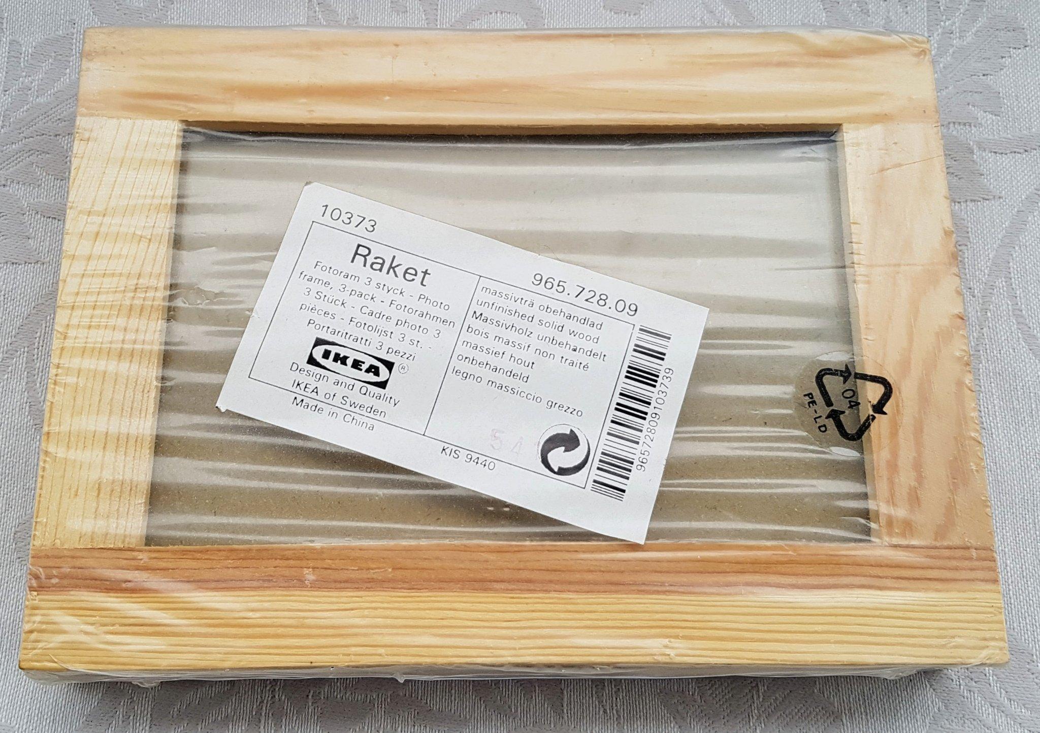 In Legno Wood Design 3 ramar i massivt obehandlat trä
