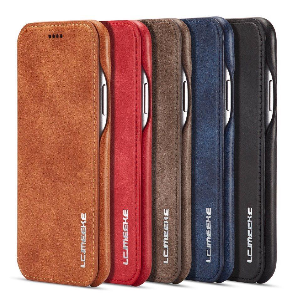 iPhone 8 Flip Läder Plånboksfodral Flip Leather Wallet Stand Case - Svart a74cede1fdef3