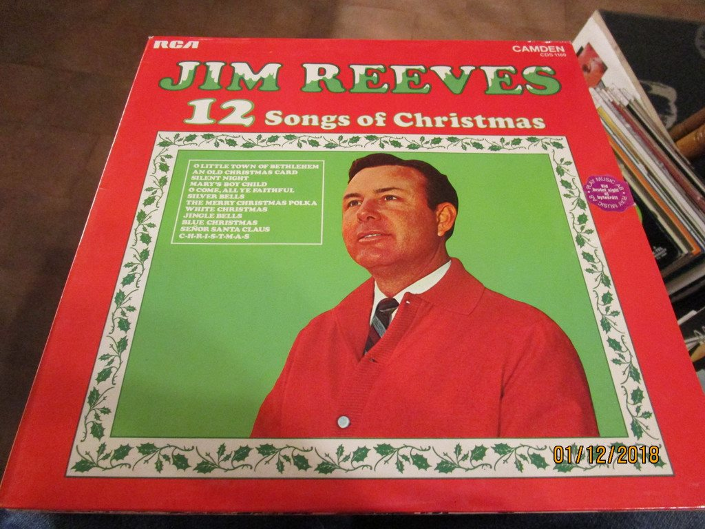 JIM REEVES - 12 SONGS OF CHRISTMAS - LP (331474643) ᐈ Köp på Tradera