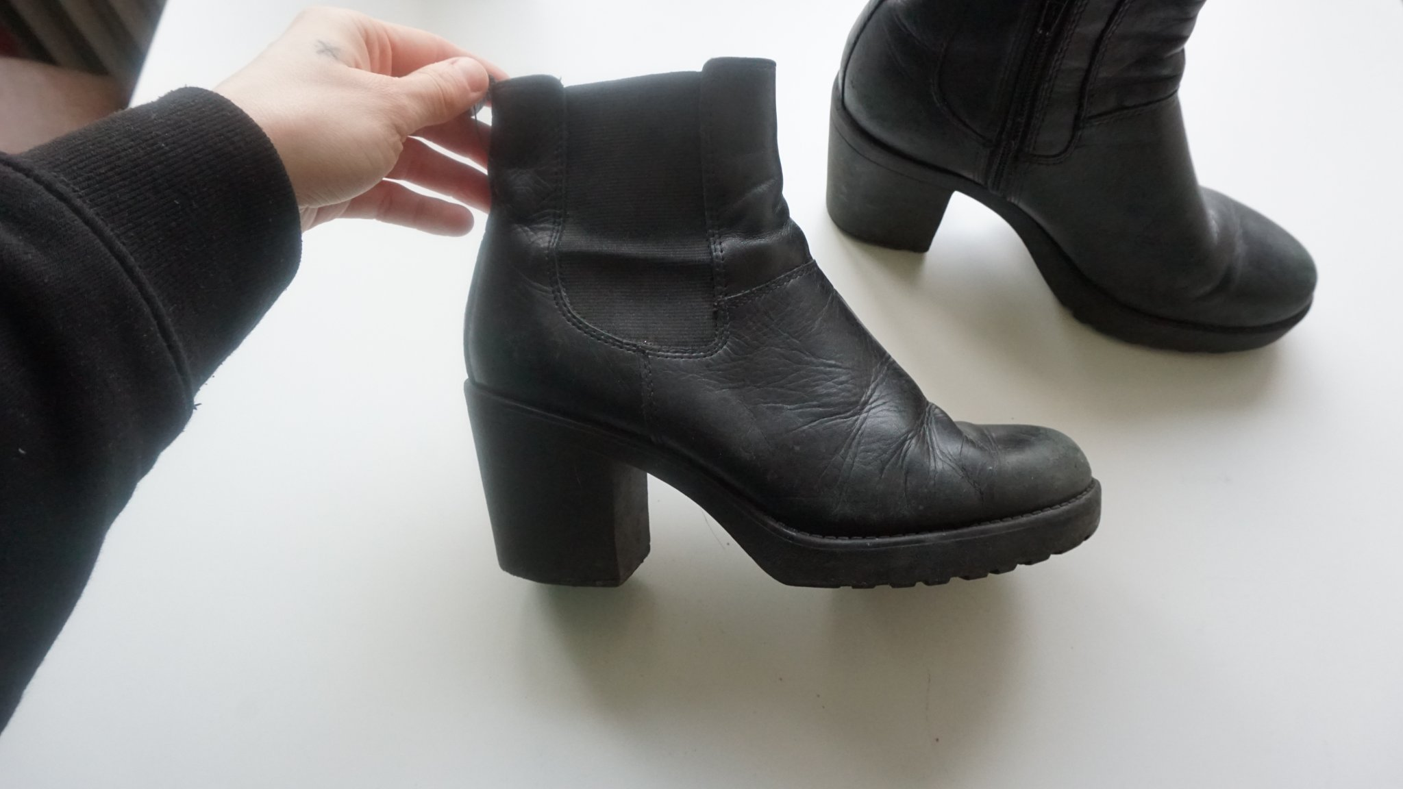 997401d4a7f Boots från Vagabond, klack, skinn, 90-tal, tren.. (351096931) ᐈ Köp ...