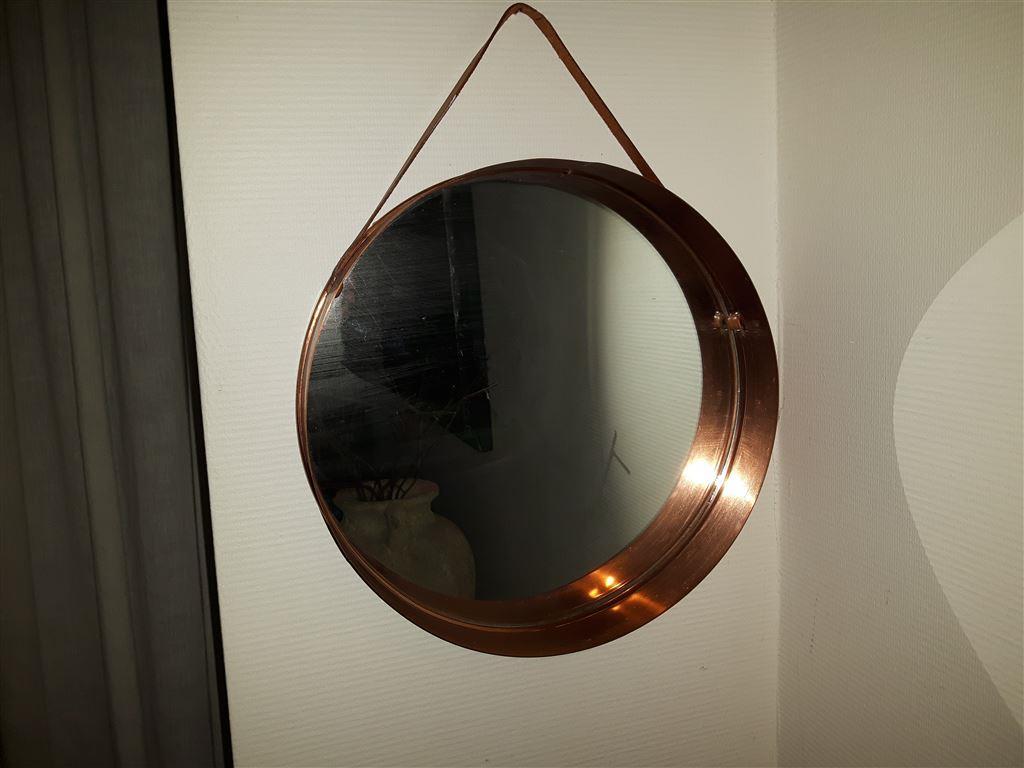 Retro rund spegel kopparram på Tradera.com - Övriga hushållsföremål -