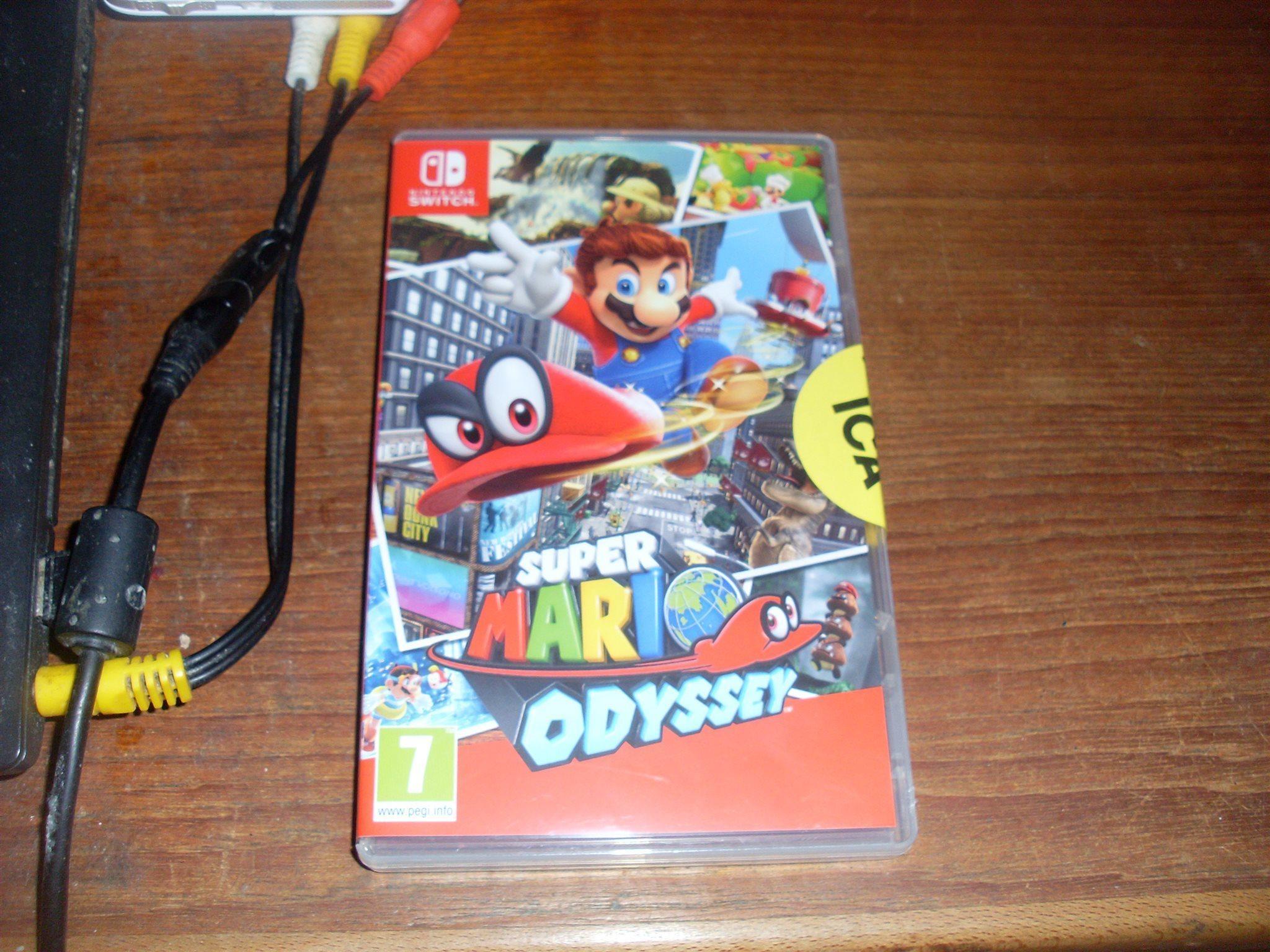 Nintendo Switch Super Mario Odyssey Spelkassett 320893759 Kp Switchsuper Oppnad Plomberad Ica