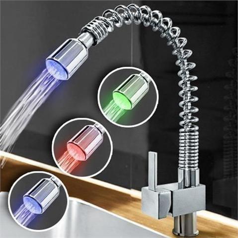Köksblandare LED med dusch dusch dusch Exklusiv Köksarmatur Aqua Marin edce58