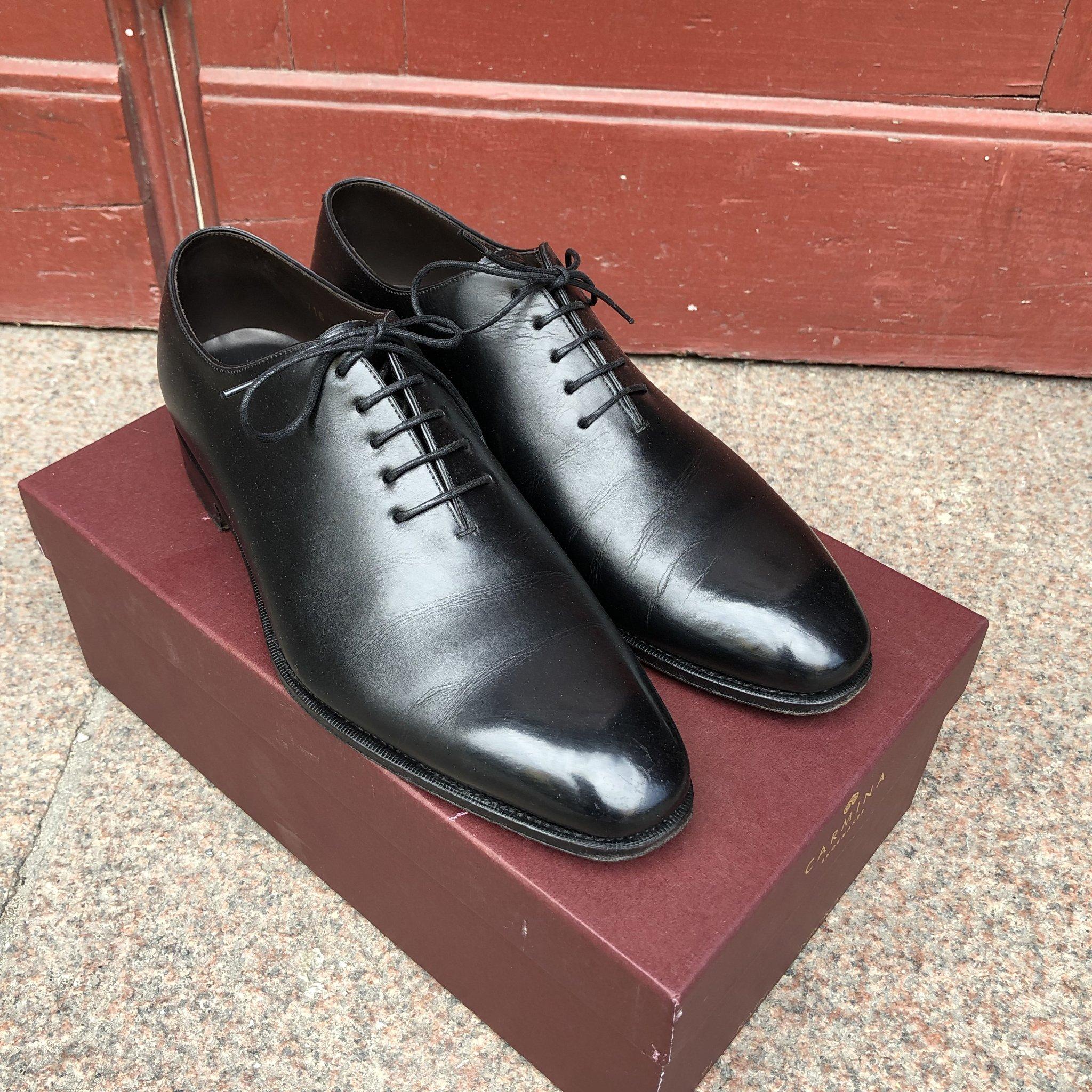 1ab47c8db13 Carmina Wholecut Oxford Black Calf storlek 9,5 (353169559) ᐈ Köp på ...
