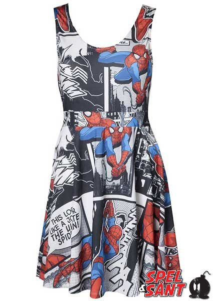 Marvel Comic Style Spiderman Klänning (X-Large)