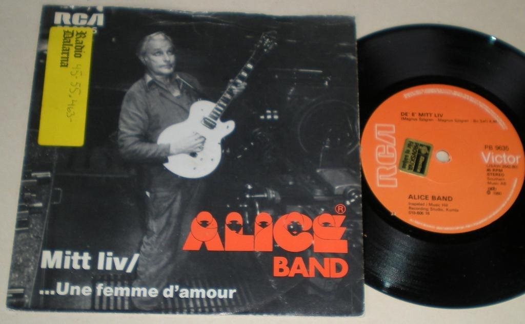 Alice Band 45/PS Mitt liv 1980 VG++ Ovanlig