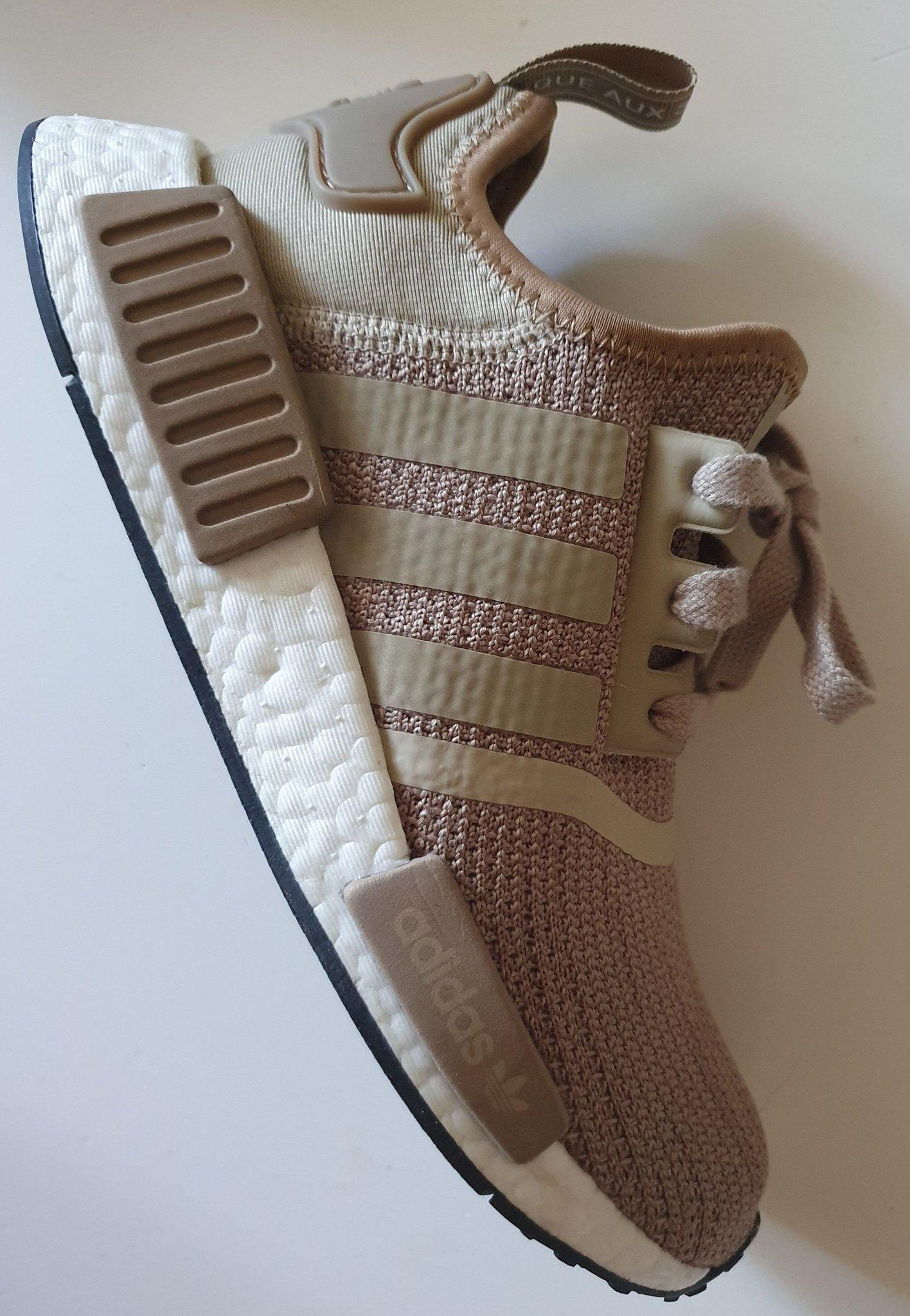 adidas Originals NMD R1 Shoe Grey Gold White NWT