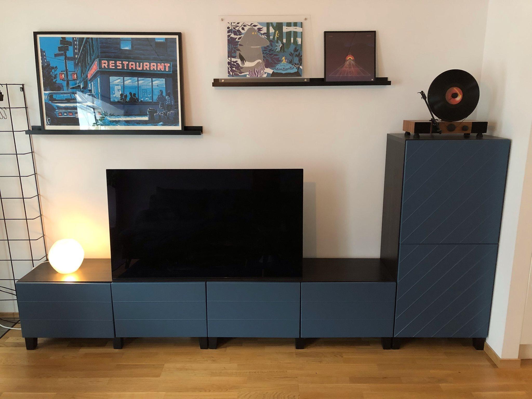 Tv Möbel M Skåp   Modell Bestå Från Ikea   Fint Skick