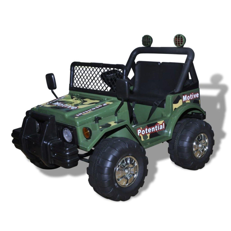 Elektrisk bil till barn, två-sits, grön