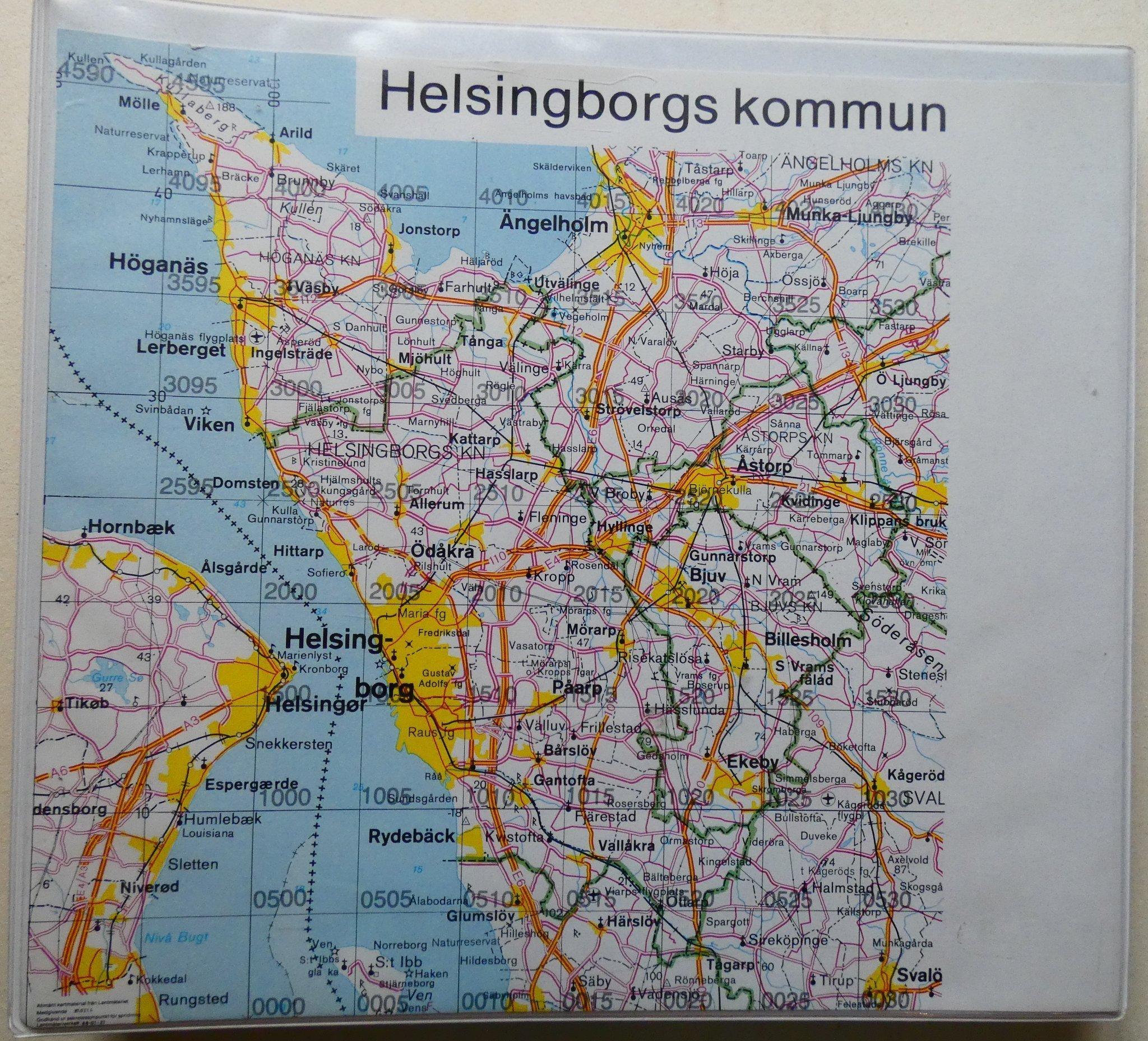 Kartor I Parm Over Helsingborgs Kommun 379361124 ᐈ Kop Pa Tradera