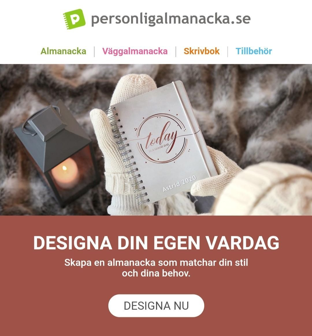 värdekod personlig almanacka 2019
