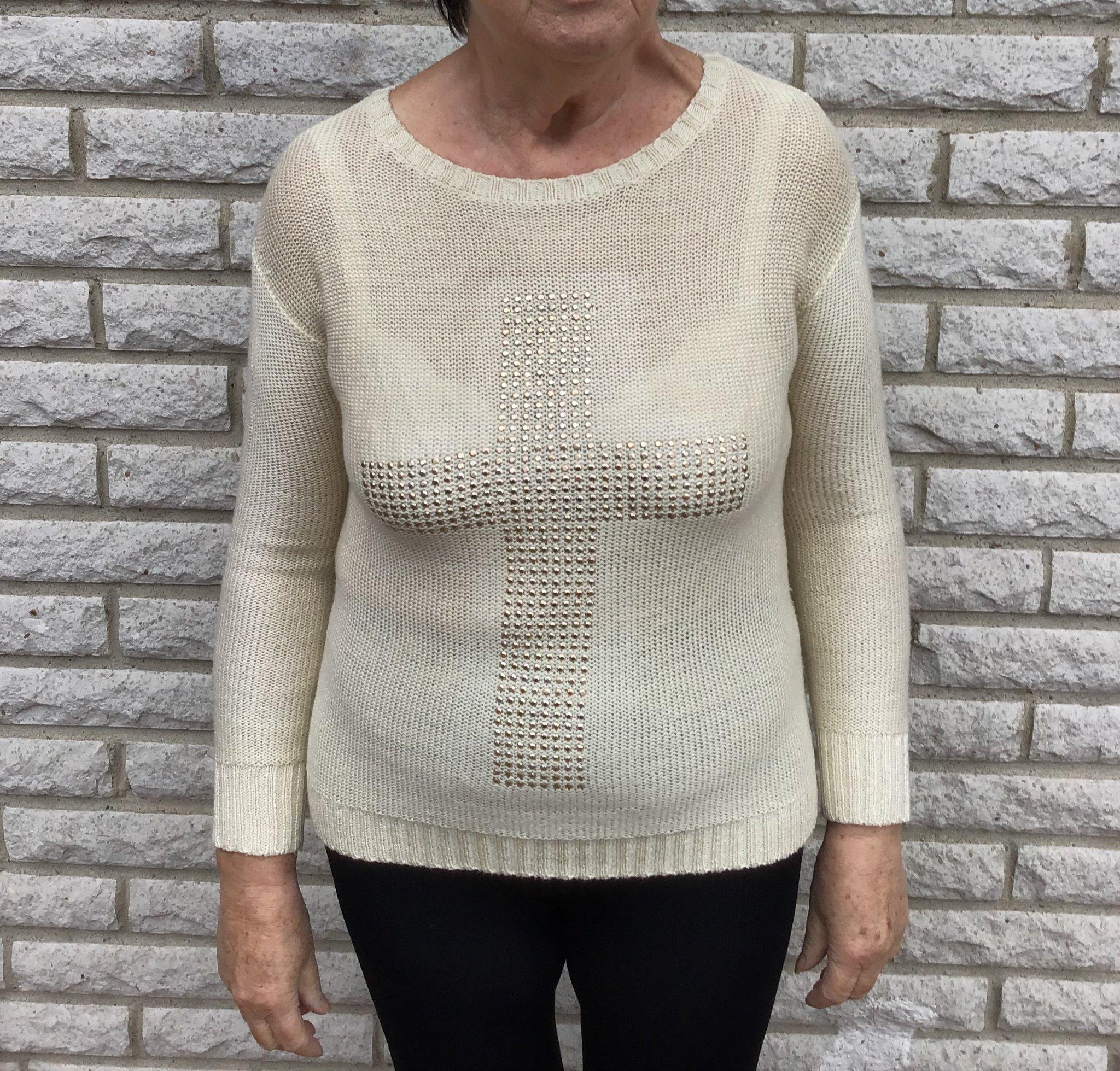 Stickad tröja till dam. (419240710) ᐈ Köp på Tradera