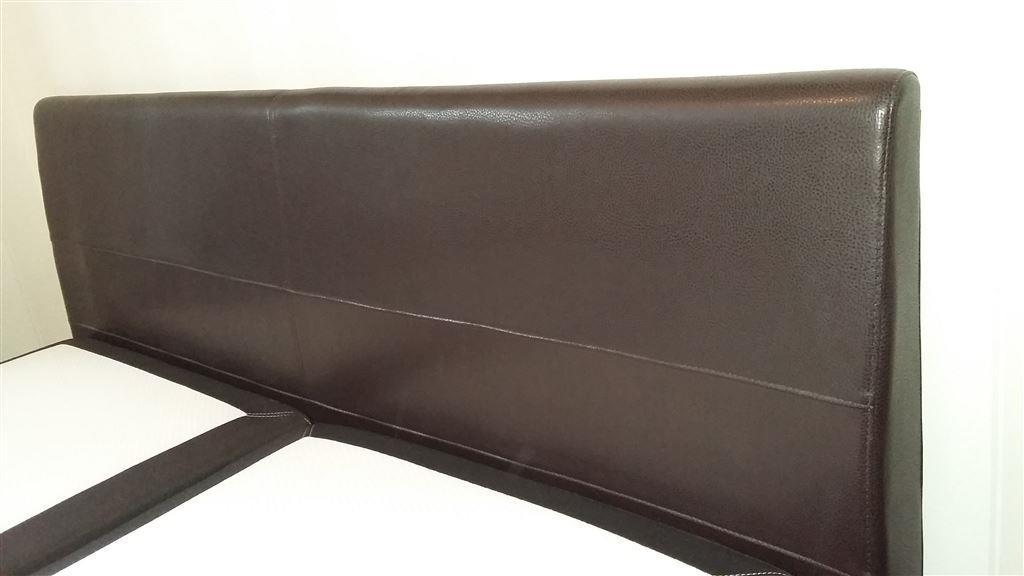 Sänggavlar 105 Cm : Dubbelsäng sunnerbo kungsängen med sänggavel i mörkbrunt
