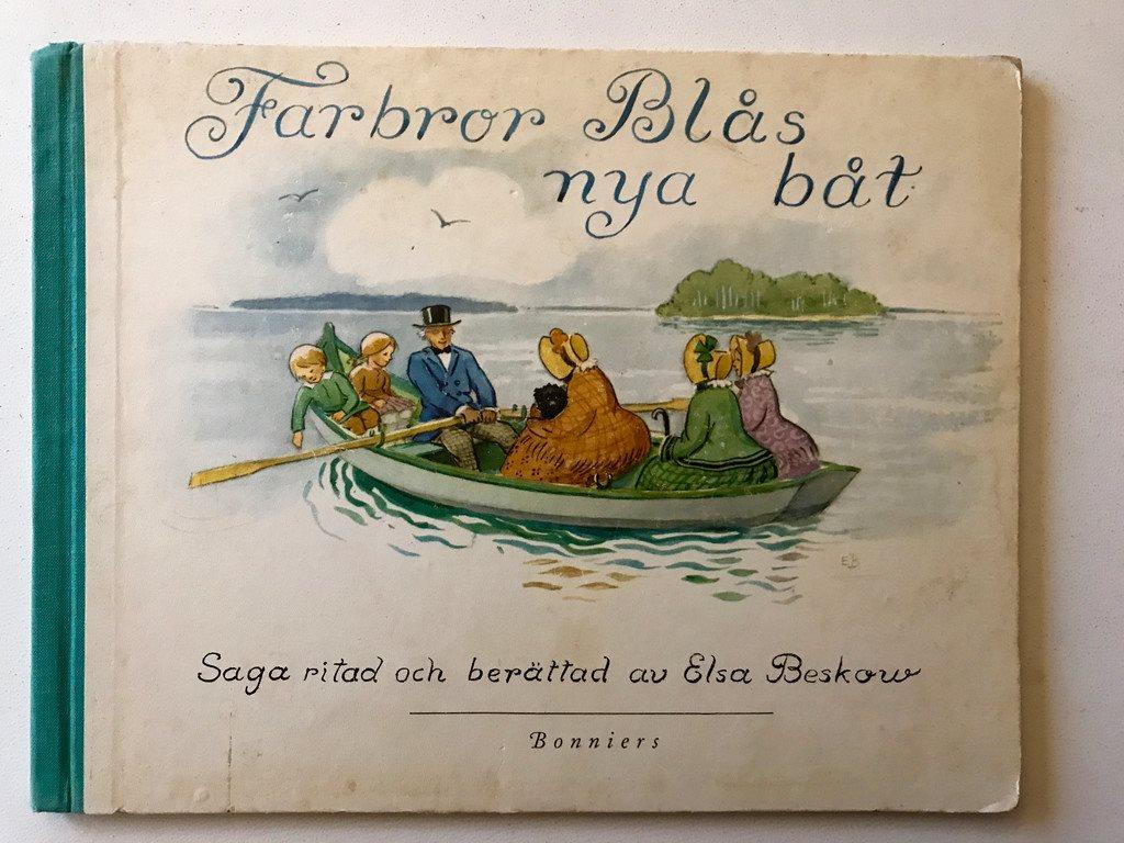 FARBROR BLÅS NYA BÅT Elsa Beskow 1973