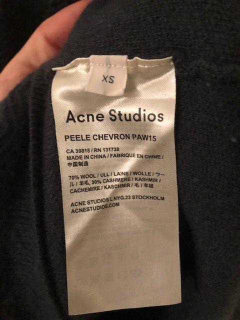Acne Acne Acne Studios tröja 70% Ull 30% Cashmere cddab0