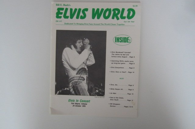 ELVIS WORLD  Bill E Burks tidning