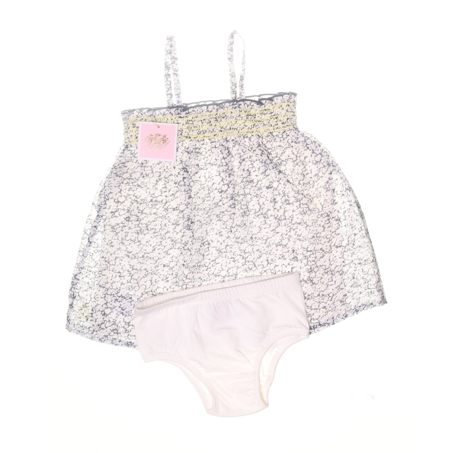 Juicy Couture, Klänning, Strl: 92, Girls 2 PC Dress Set, VitBlå, Polyester