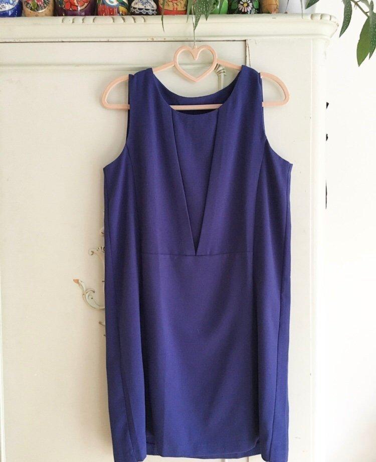 Rak klänning från Mango i blått kostym kontor.. (414409144