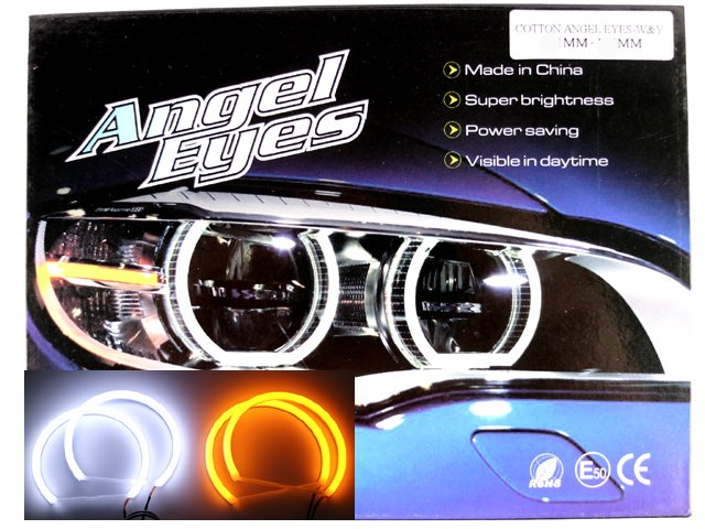 Angeleyes BMW E36 E38 E39 E46 8000k Cotton led med gul blinkers