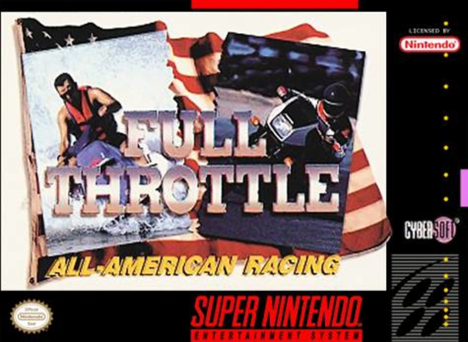 Full Throttle  All-American Racing - Super Nintendo