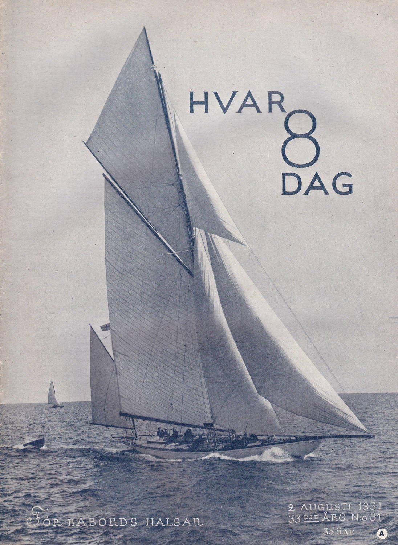 Hvar 8 Dag 1931-31 Rolf Von Heidenstam..Nathan Söderblom
